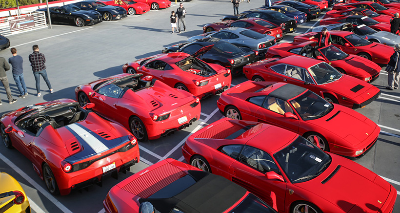 Ferraris flock to the Petersen Museum for the F40's 30th anniversary