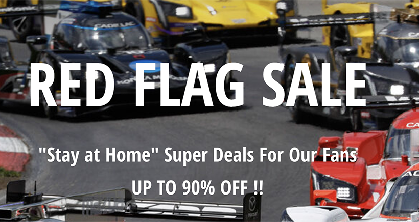 Stop and Shop for deals up to 90% off in this IMSA Red Flag Sale!