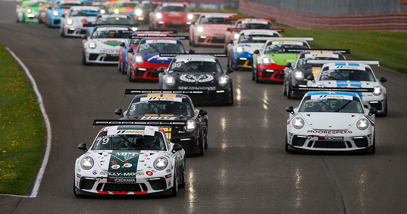 Race 1, Start, #79 Kelly-Moss Road and Race, Porsche 991 / 2019, GT3P: Roman DeAngelis
