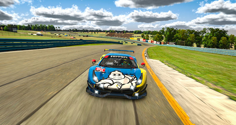 #89 Jules Gounon, Risi Competizione Ferrari(MEDIA: EDITORIAL USE ONLY) (This image is from the iRacing computer game)