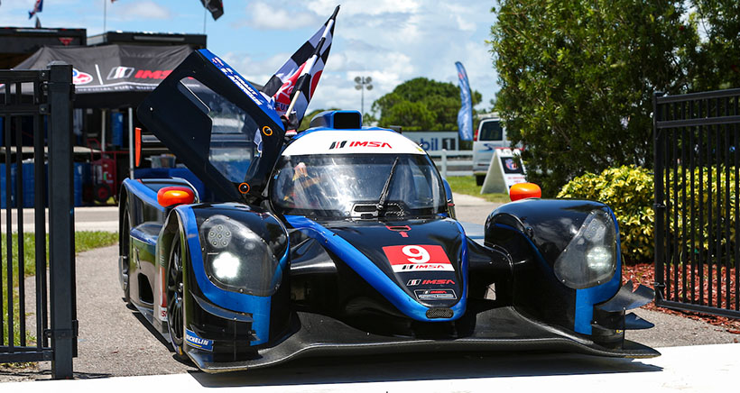 #9 JDC MotorSports Norma M30, LMP3: Scott Andrews, Checkered Flag