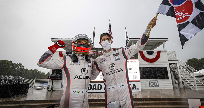 Wet and Wild Win for Taylor, Castroneves and Acura Team Penske at Road America
