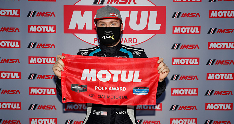 Big Day for Stacy:  Two Motul Pole Awards and a Race Win in IMSA Michelin Pilot Challenge Action at Mid-Ohio