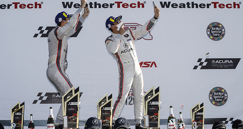 Double-Triple for Acura Team Penske, Castroneves and Taylor at Mid-Ohio
