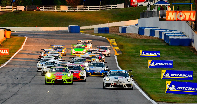 Dickinson Holds off Late Challenges to Win Opener of Porsche GT3 Cup Challenge Tripleheader