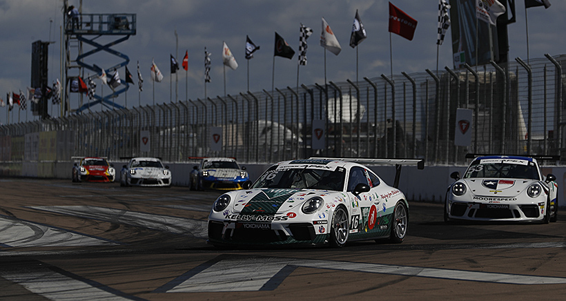 Broom Time for Kingsley with Porsche GT3 Cup Challenge USA Sweep at St. Pete