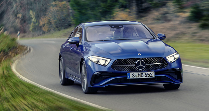 Mercedes CLS Gains Starry Grille and Tech-Loaded Steering Wheel for 2021