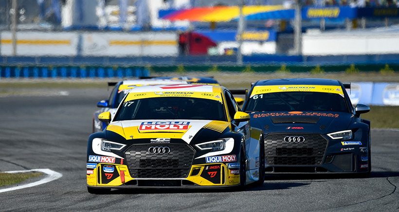 #17 JDC-Miller MotorSports Audi RS3 LMS SEQ, TCR: Chris Miller, Mikey Taylor, William Tally