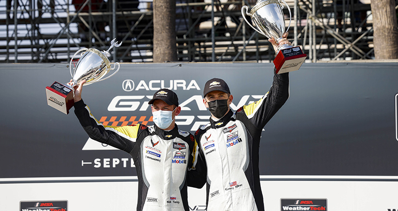 Milner, Tandy Outduel Corvette Teammates for Long Beach Win