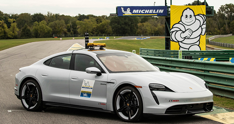 Porsche Taycan Turbo S Becomes First Electric Safety Car in IMSA History, To Be Used at VIR