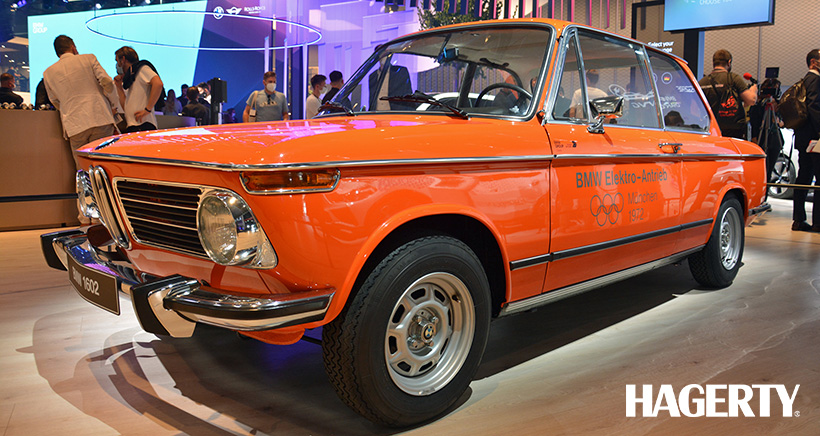 50 Years Before the i4, BMW Showed Off an Electric 1602 at the Olympics